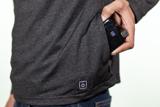 The Flare | World's Warmest Shirt w/3X Phone Charging