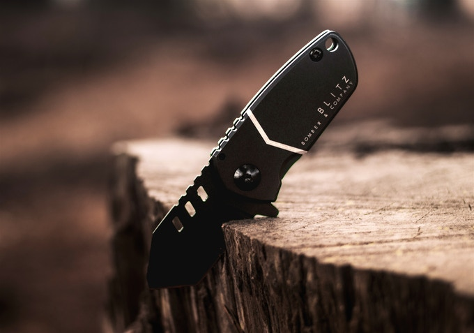 BLITZ Mini Tactical Pocket Knife | Straight Edge Edition