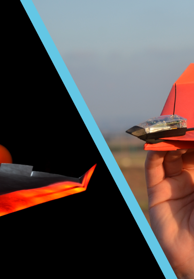 POWERUP 4.0 | Smartphone Controlled Paper Airplane